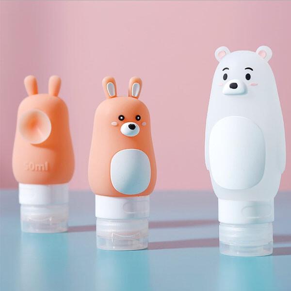 旅行分裝瓶-可愛卡通造型便攜分裝瓶 真空瓶 乳液 化妝水 精華液 保養品an shop