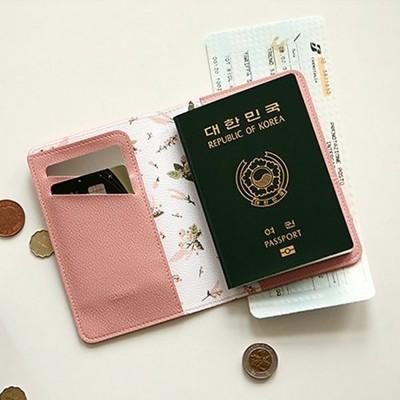 護照包-藍國清新手作塗鴉荔枝紋多功能外出/旅行護照夾 護照包 名片夾an shop (9.4折)