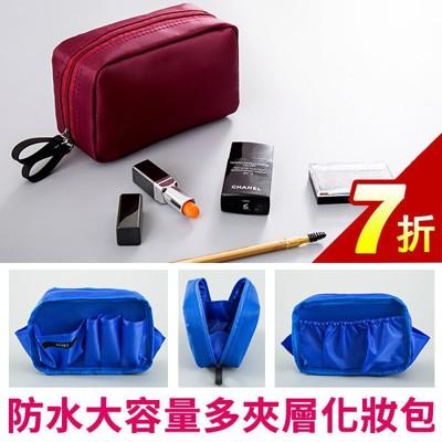 化妝包-韓國新款fk&fk防水尼龍大容量多夾層方形化妝包 收納包 手拿包 an shop (7折)