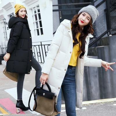 【Angela衣著】*韓版修身加厚保暖長版大尺碼羽絨棉外套 (4.6折)