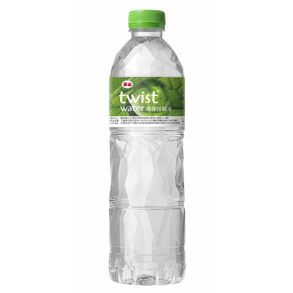 泰山 twist water環保包裝水 (600ml*24入/箱)
