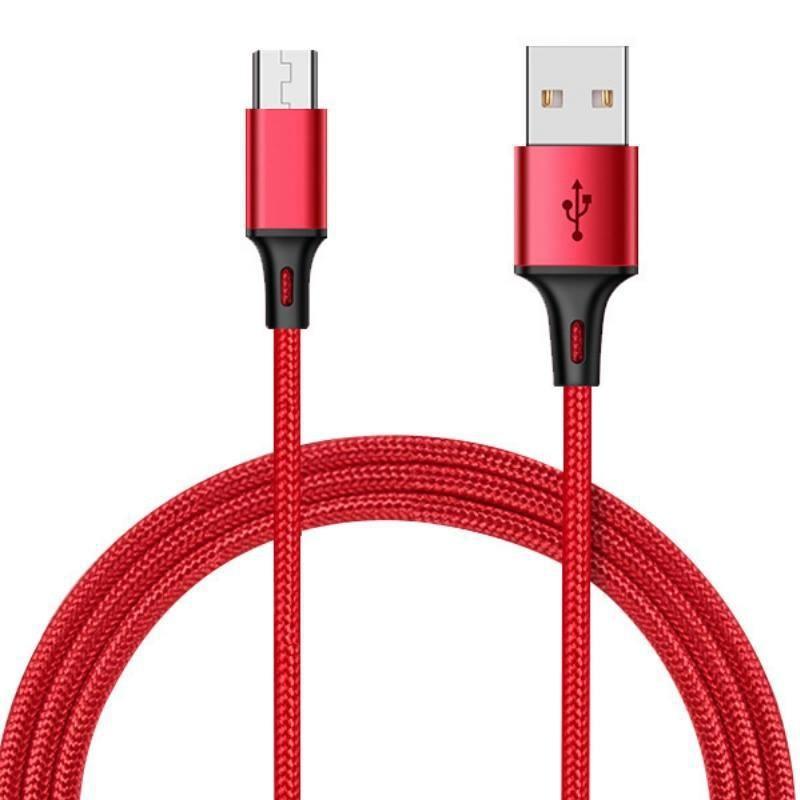 dc234尼龍編織充電線1米3a micro手機充電線 傳輸線 快充線 usb充電線