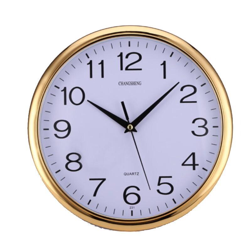 dx40112寸圓形靜音掛鐘 石英鐘 簡約時鐘 客廳時鐘 超靜音時鐘