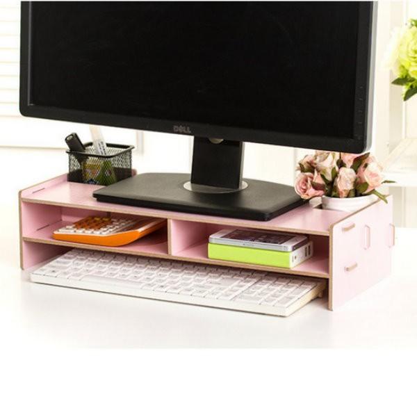 dc140diy桌面電腦架 電腦螢幕增高架 鍵盤架 桌上收納盒 螢幕增高架 螢幕支架
