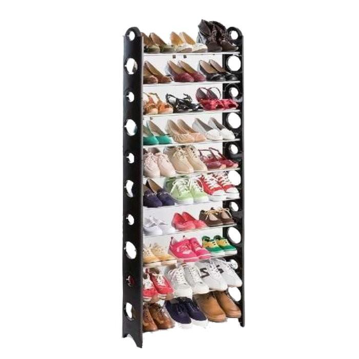 gk375日式大容量diy豪華型十層鞋架 組合鞋架 10層鞋櫃 可放馬靴(送防塵套)