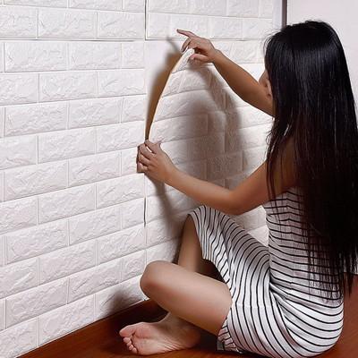 【DW199】3D牆貼 加厚版仿磚塊浮雕牆紙 防水隔音牆貼 背膠石壁貼 壁紙 無毒 無味 (4.1折)