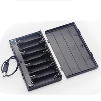 【DY327】帶蓋帶開關電池盒3號8節串聯 電池盒 12V DC插頭 行動電源 (2.7折)