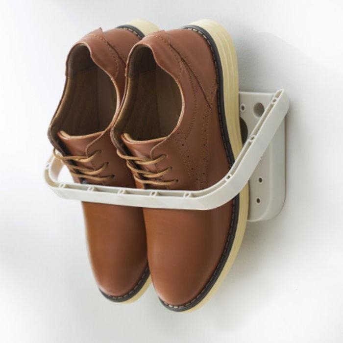 gl325強力魔力貼-折疊鞋架 黏貼式牆壁鞋架 壁面拖鞋架 摺疊收納架 鞋掛
