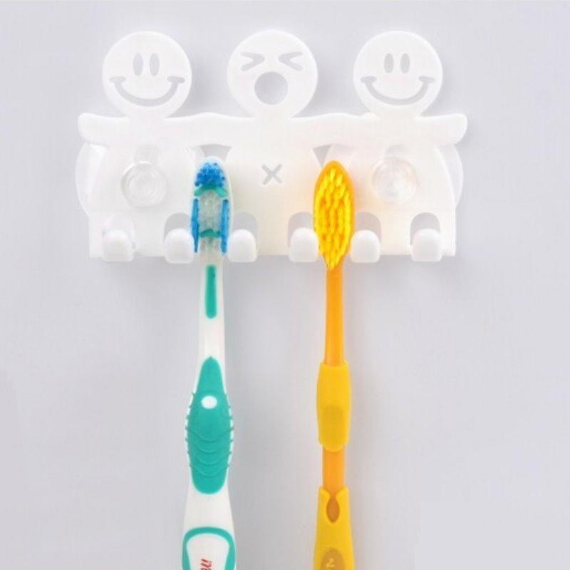 dh247可愛家人吸盤式造型牙刷架 牙刷掛/牙刷伴侶/牙刷座 電動牙刷可用