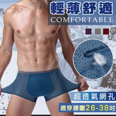 【i TYPE】超彈力冰絲超薄鑽石網孔透氣男內褲 (3.5折)