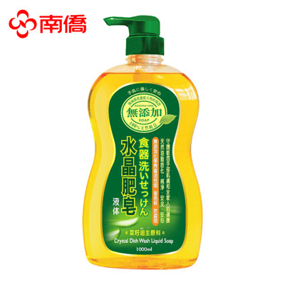 南僑水晶 食器洗滌液 洗碗精1000ml  買10入/組贈送菜瓜布 (6.7折)