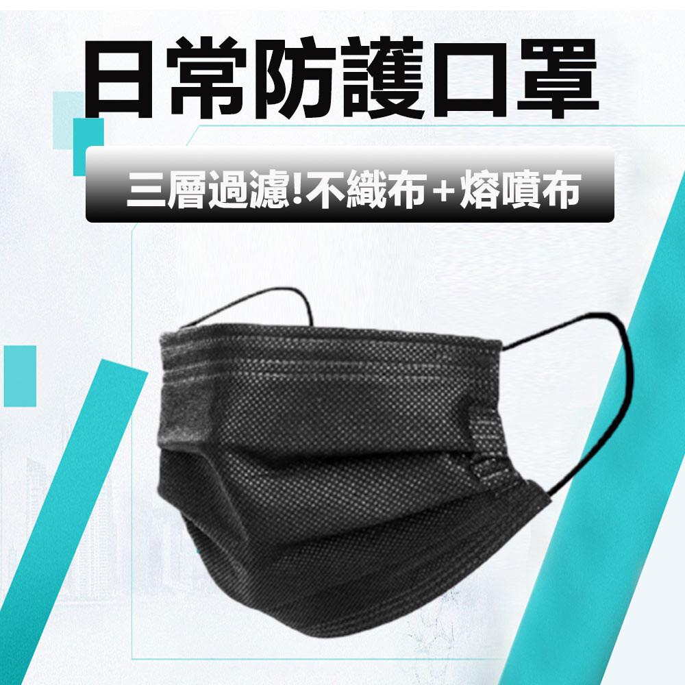 日常防護成人口罩 三層口罩(無盒)50入