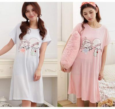 Pink Lady棉柔連身短袖睡裙(12款可選) (5折)