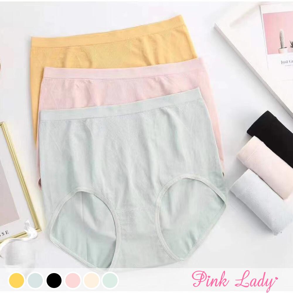 pink lady蠶絲褲底莫代爾無縫內褲 柔軟包覆 提臀中高腰內褲503 (4入起)
