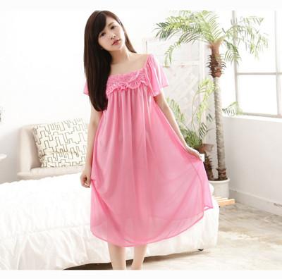 Pink Lady法式浪漫珍珠絲緞連身睡裙8838(玫紅/金/寶藍/粉)4色可選 (5折)