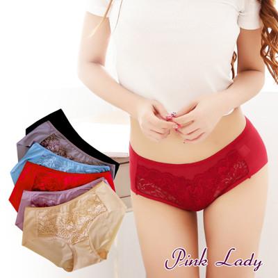 Pink Lady 台灣製宮廷奢華蕾絲超薄鎖邊內褲8859 (3.4折)