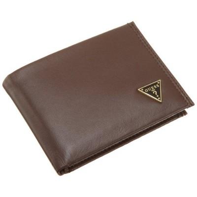 【Guess 】男時尚棕色拋光羊皮皮夾 (5.5折)