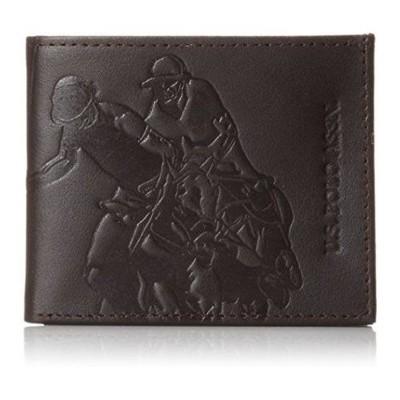 【U.S. Polo】2015男時尚運動員浮雕黑色薄型皮夾 (6.4折)