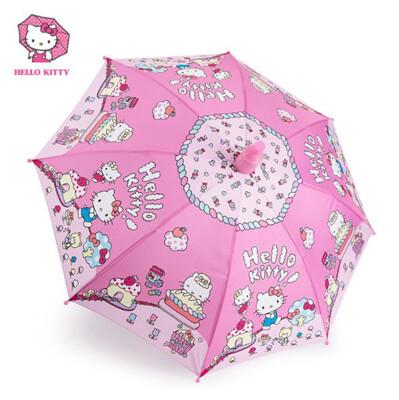 Hello Kitty 自動幼兒傘 防雨套直柄傘 (4.6折)