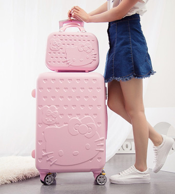 HELLO KITTY 凱蒂貓 子母 行李箱 旅行箱 20吋 24吋 28吋 (4.6折)