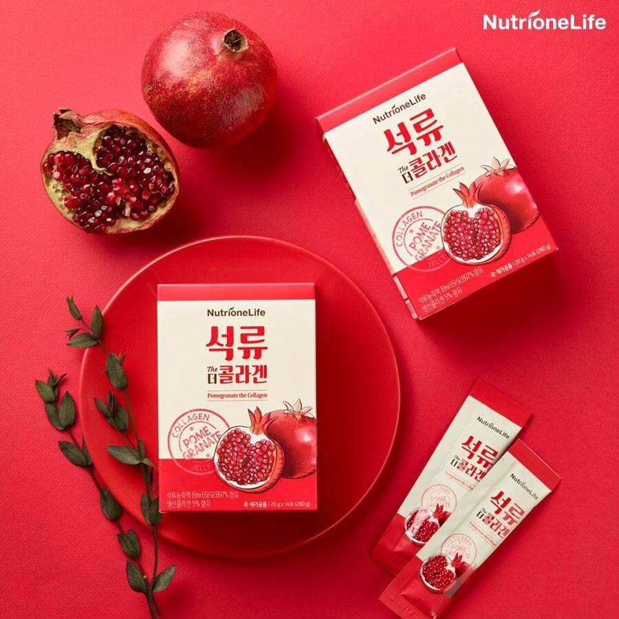 韓國 nutrione 紅石榴膠原蛋白果凍 20gx14
