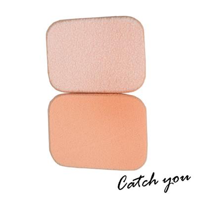 【CatchYou凱趣妮】高密度柔軟小長方形植絨海綿粉撲(水粉/乾溼兩用)2入 (3折)