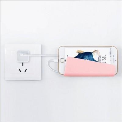 手機墻掛架充電線捆綁手機置物架黏貼式手機壁掛架
