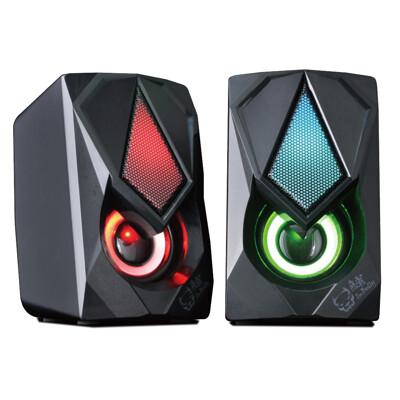 atake 發光電競音響 電腦兩件式音響 遊戲RGB喇叭 X9桌上型多媒體喇叭 惡霸 (8.1折)