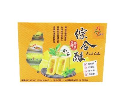 【鎰利】最佳伴手禮 綜合酥(鳳梨、芒果、綠茶、釋迦)(10入/盒) (8折)