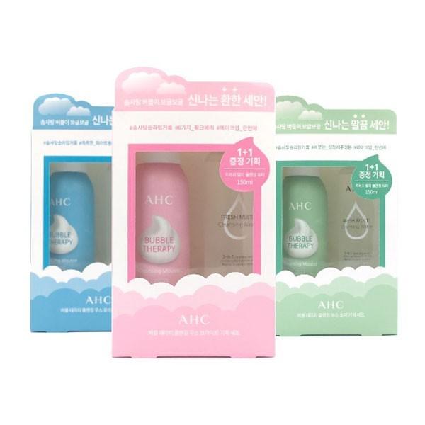 韓國 a.h.c 棉花糖泡泡洗顏卸妝超值套組 1+1 泡泡潔面慕斯150ml+卸妝水80ml