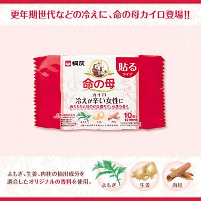 日本 小林製藥 桐灰 命之母 生理溫熱貼布 10入/包 生理 溫熱 貼布【特價】異國精品 (8.8折)