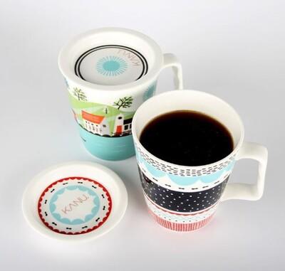 【KANU】 炭焙無糖黑咖啡 MINI 馬克杯組+隨機贈孔劉杯緣公仔1個 (8.5折)