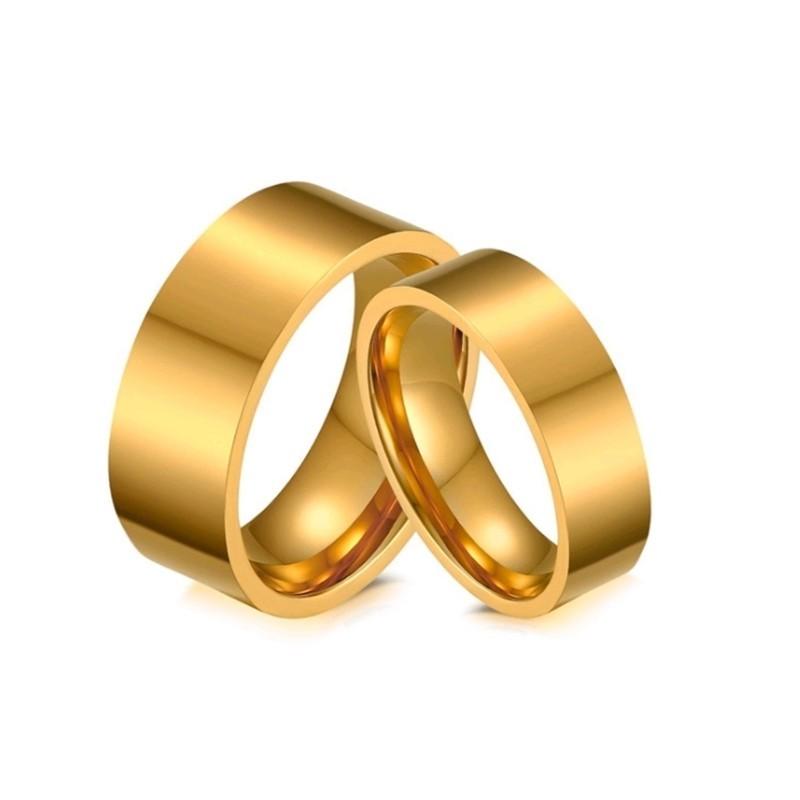 316小舖c509(優質鈦鋼戒指-簡約金指情侶鋼戒-單件價 /金色對戒/金色戒指/最低價/情侶穿