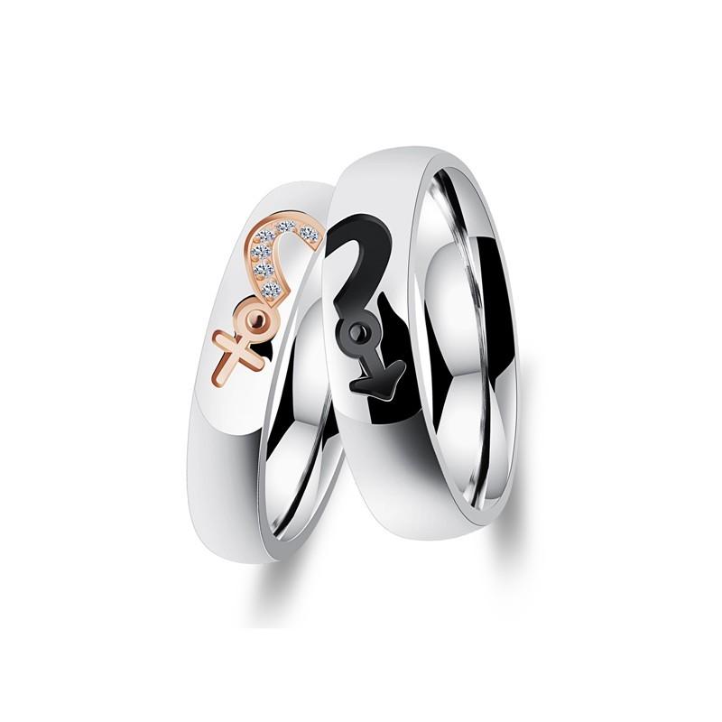 316小舖c495(優質鈦鋼戒指-時尚性別鋼對戒-單件價 /性別戒子/性別戒指/情人戒指/情侶戒