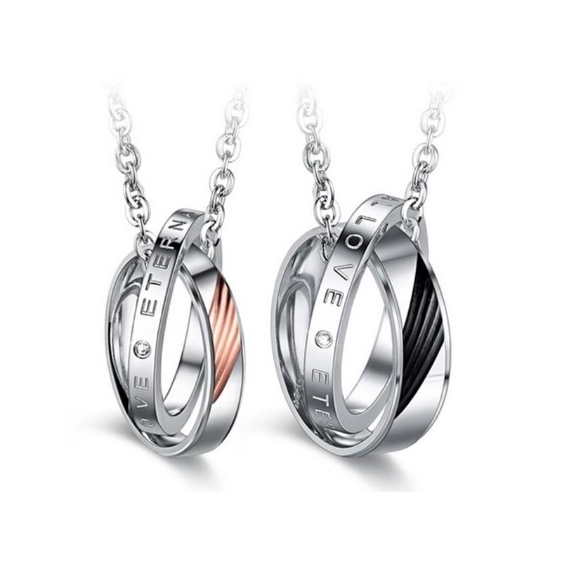 316小舖e457(優質鈦鋼情侶項鏈-承諾守護情侶對鍊-單件價 /鈦鋼項鏈/長項鏈禮物/短項鏈禮