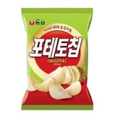 韓國原裝進口【農心 洋芋片(原味) 60g】薄片口感酥脆加倍,經典原味全家大小都喜歡~~~ (6.7折)