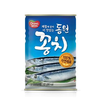 韓國 原裝進口【Dongwon 秋刀魚罐頭 】,400克大容量,多種創意吃法,好吃又好玩^ ^ (7.4折)