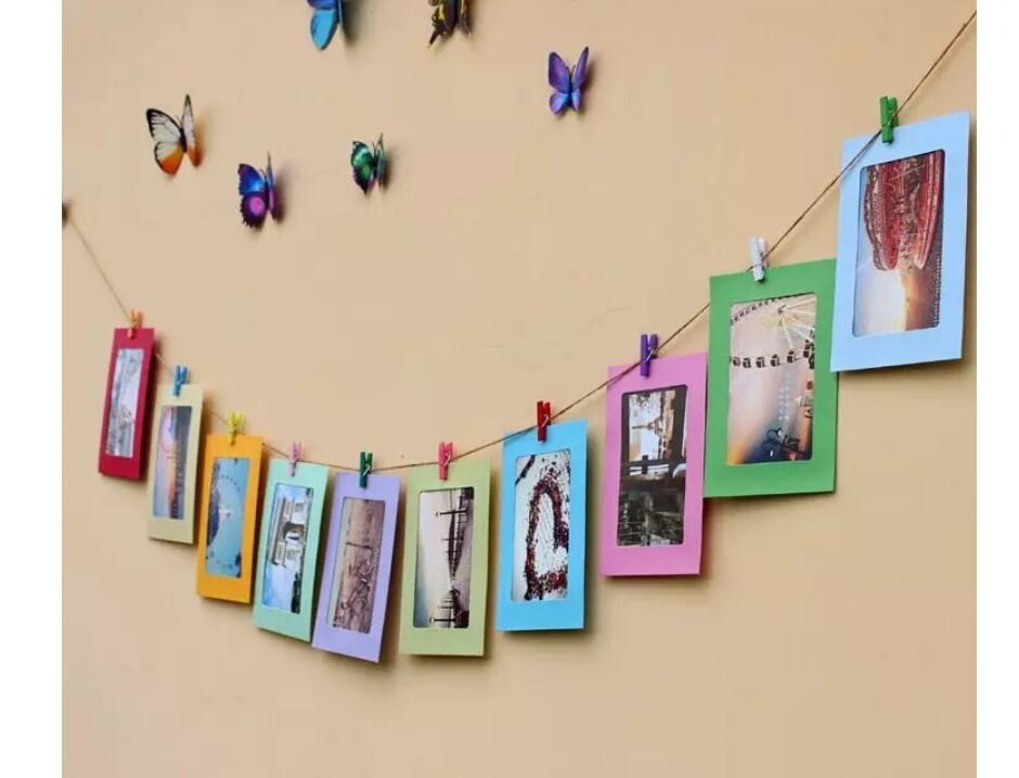 懸掛式 彩色10紙相框組復古文青網紅