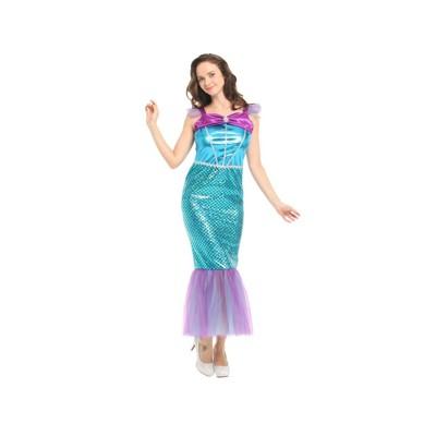 ☆派對達人☆萬聖節服裝,萬聖節裝扮,美人魚服裝,美人魚裝扮,大人變裝服-華麗美人魚 (8.8折)