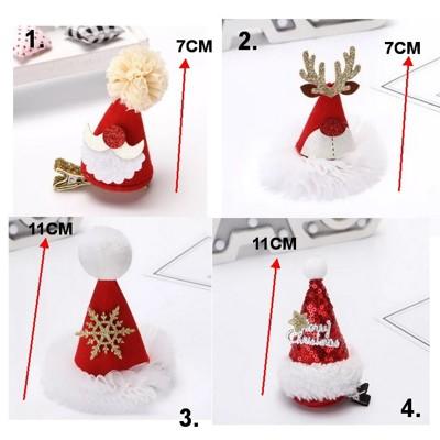 ☆派對達人☆聖誕節服裝配件/聖誕帽/聖誕髮夾/聖誕節髮箍/聖誕節髮夾/聖誕帽髮夾(4款) (6.5折)