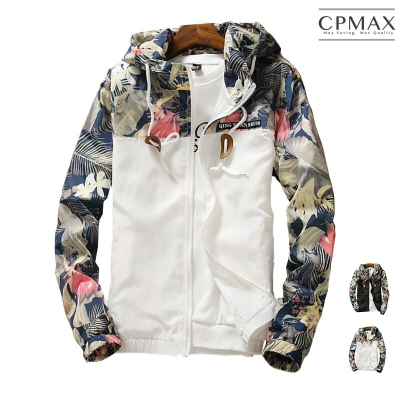 cpmax 同步韓國潮流碎花連帽外套 夾克外套 c106