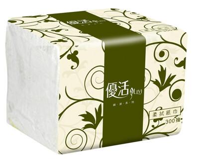 優活單抽式柔拭紙巾300抽X30包/箱 *此為小包衛生紙請注意 (8.6折)