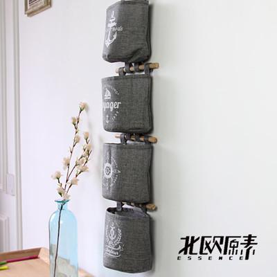【北歐原素】水手風/吊掛式4格收納袋(LS0092)-YKS (5.9折)
