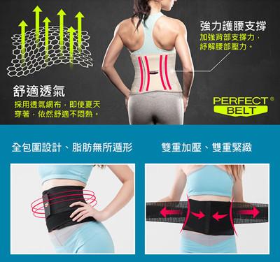 【Perfect Belt 】六秒腰塑帶 馬甲腰塑帶 美腰重機能束腰夾 時尚黑 (洛克馬企業) (2.2折)