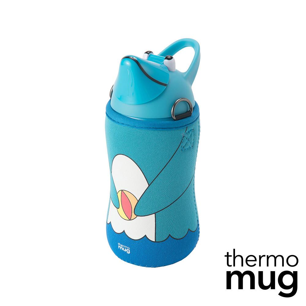 thermo mug日本不鏽鋼動物水壺-藍海豚