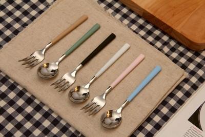 ❤少女心❤304不鏽鋼餐具組❤馬卡龍❤ 筷子 湯匙 叉子 甜點叉子 甜點湯匙 (5折)