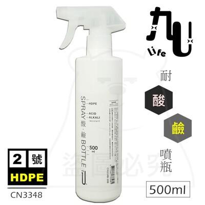 不透光2號HDPE噴瓶/500ml  台灣製 噴霧瓶 噴槍瓶 耐酸鹼 酒精分裝瓶 CN3348 (3.8折)
