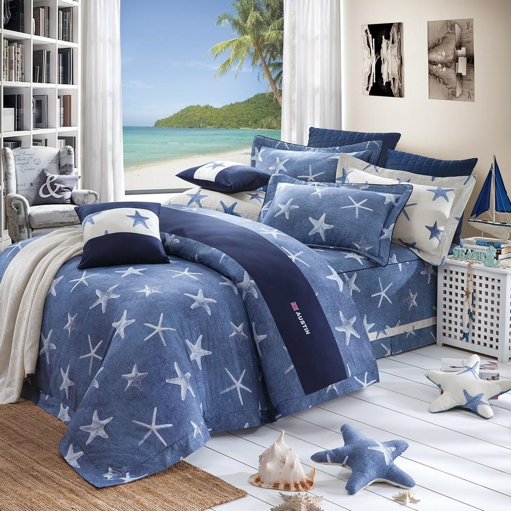 柔瑟家居奧斯汀品牌美國精梳棉三件式床包組5尺卡西斯