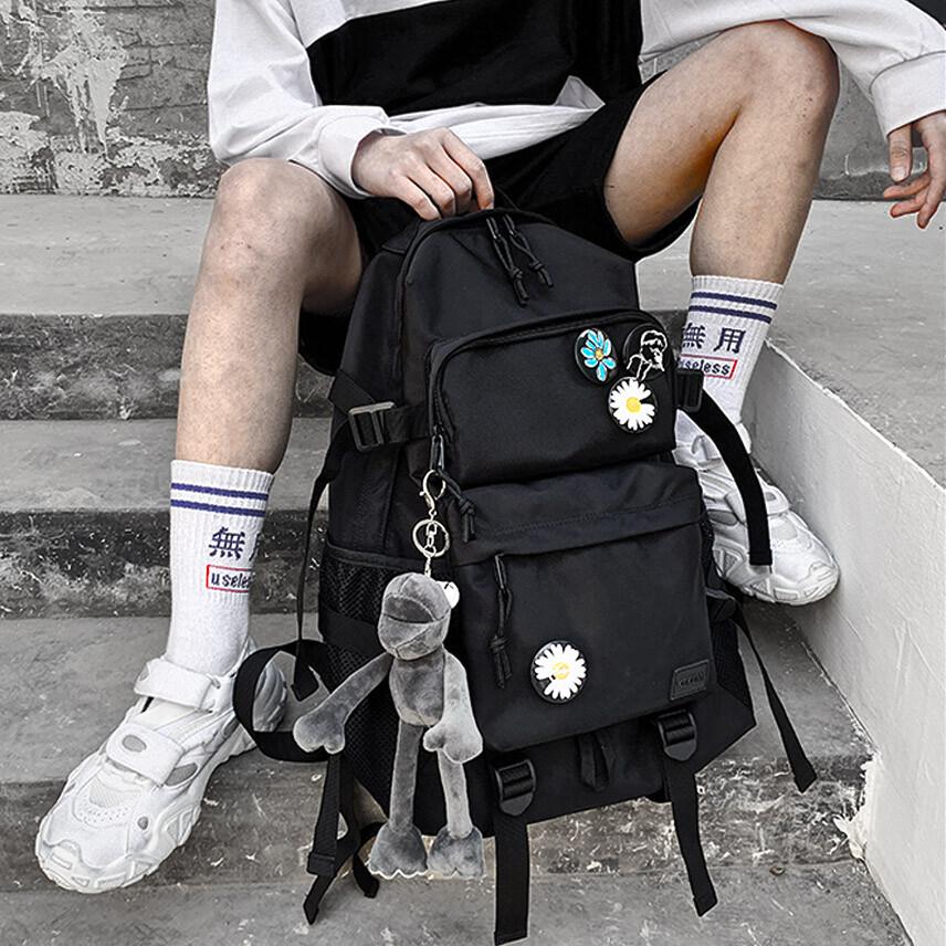 k-2街頭 多功能 戰術 潮流 掛件後背包 小熊 雛菊 大空間 後背包 背包 書包kp285
