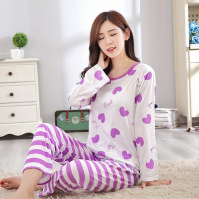 多款可愛圖案長袖休閒居家睡衣套裝(M/L) (7.3折)